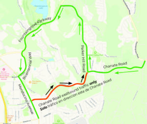 Chanate Sewer Project Detour, May 17 - September 2021